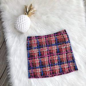 J. Crew Factory Plaid Mini Skirt